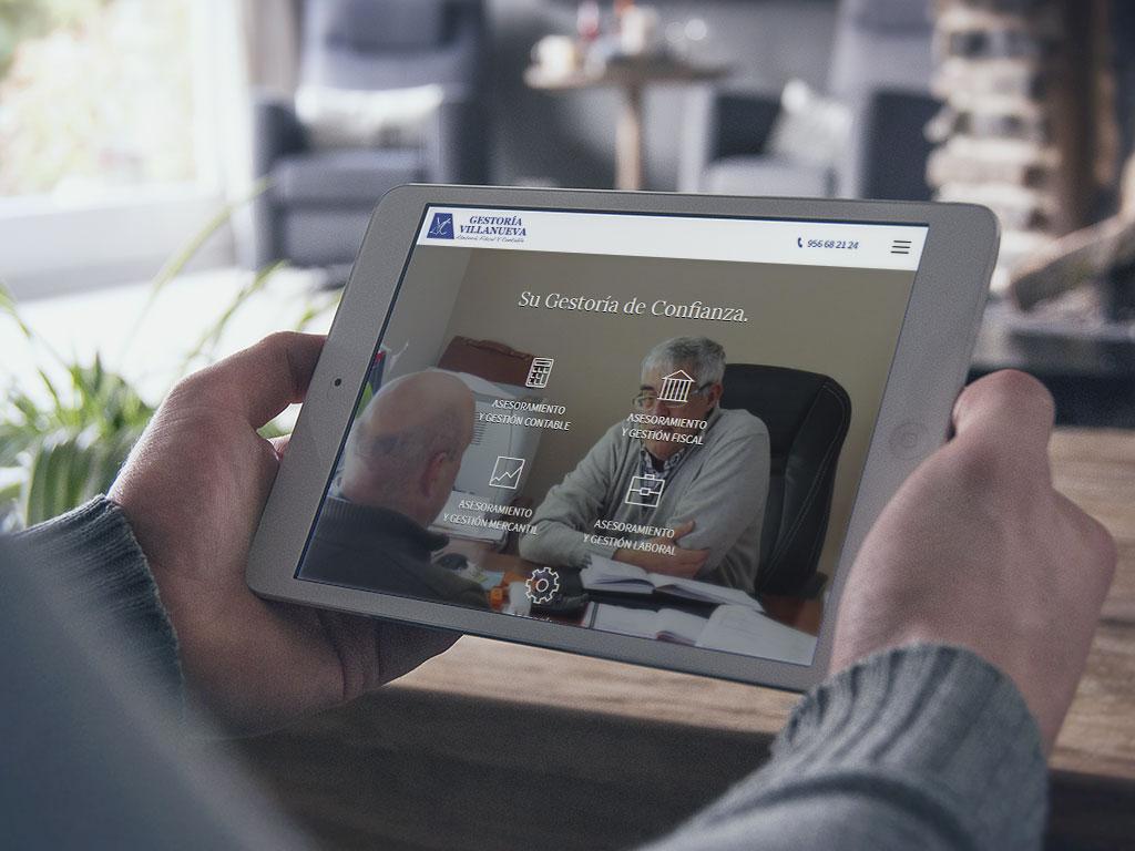 Gestoría Villanueva confía en DANTIA para el desarrollo de su web corporativa en la que mostrar sus servicios