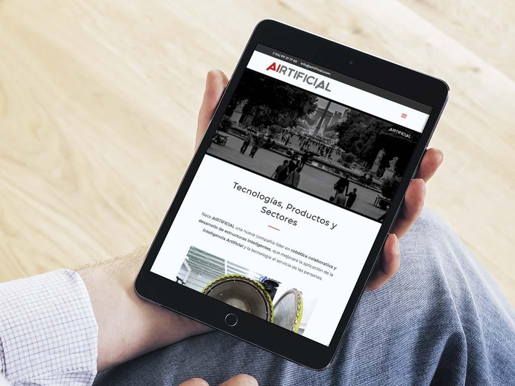 Nueva Web Corporativa para Airtificial