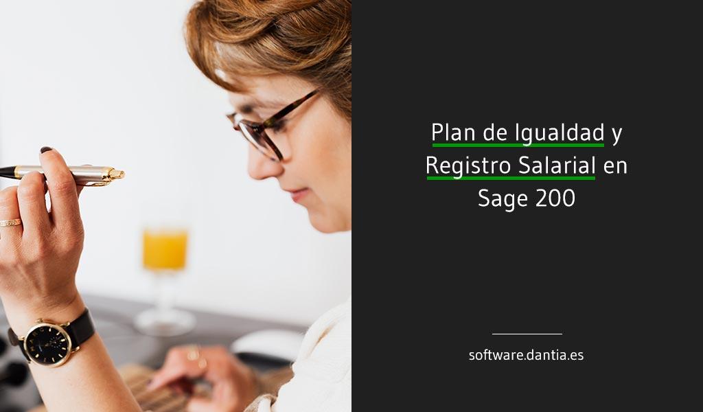 Plan de Igualdad y Registro Salarial en Sage 200