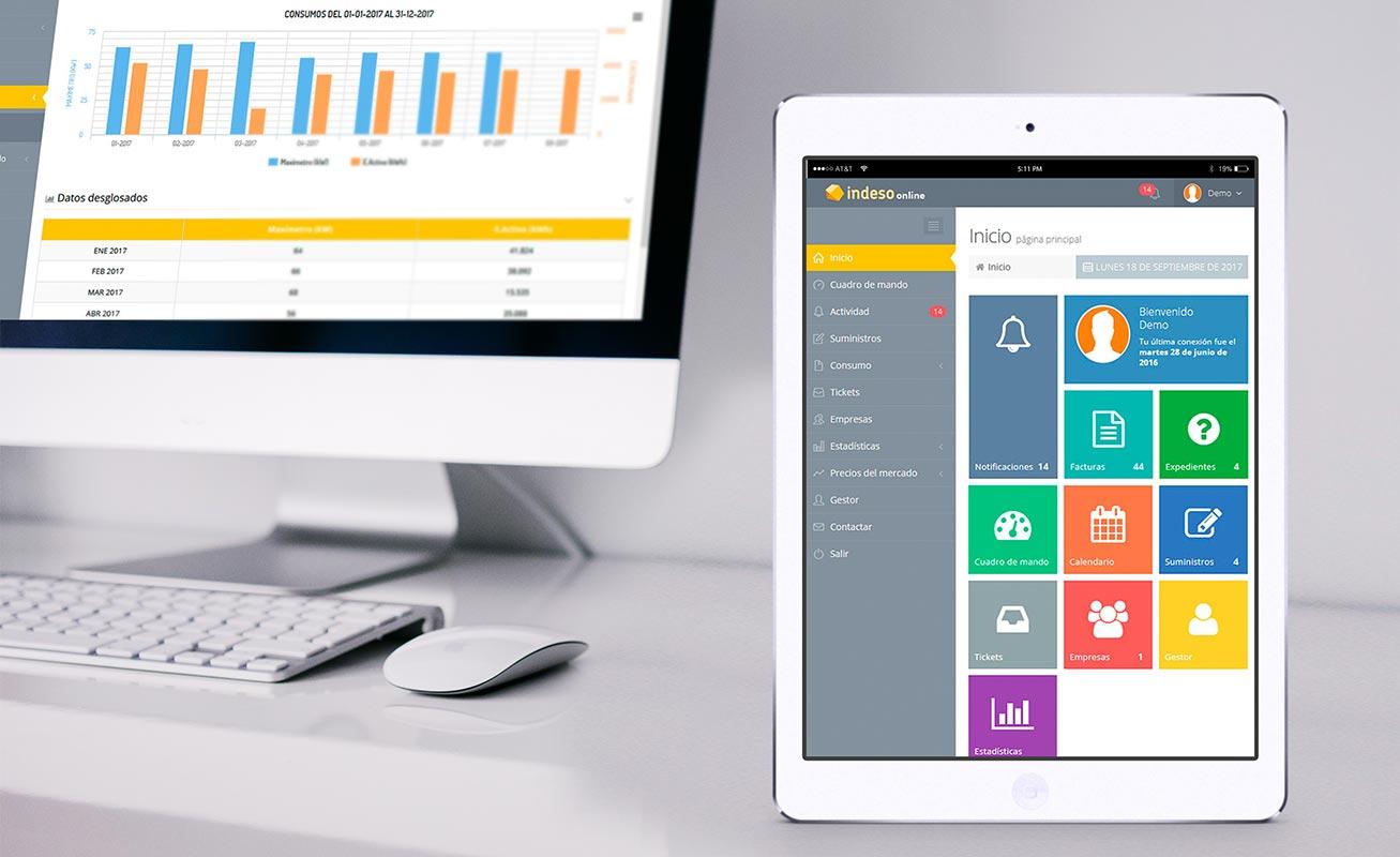 Grupo Indeso confía en DANTIA para el desarrollo de una Aplicación Web que proporciona el servicio de acceso conectada con Sage 200cloud