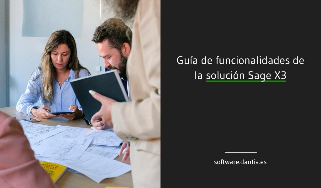 Guía de funcionalidades de la solución Sage X3